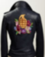 #leather#jacket#handmade#handcrafted#embroidery#fashion#swarovski#crystals#unique#grenade#roses#gunsn'roses#collection#sylwiavonwalls
