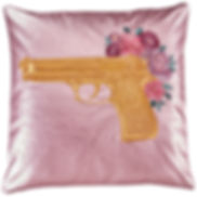 #interior#gold#soft#italian#art#design#luxury#home#interior#cushion#pillow#leather#jacket#handmade#handcrafted#embroidery#gold#gun#roses#gunsn'roses#collection#sylwiavonwalls#s#high#quality#pink#soft#italian#leather