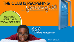 The Club is Reopening January 19!