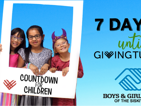 Countdown for Children: 7 Days Until Giving Tuesday