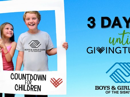 Countdown for Children: 3 Days Until Giving Tuesday!