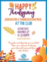 Thanksgiving Invitation 2019 Blue Border