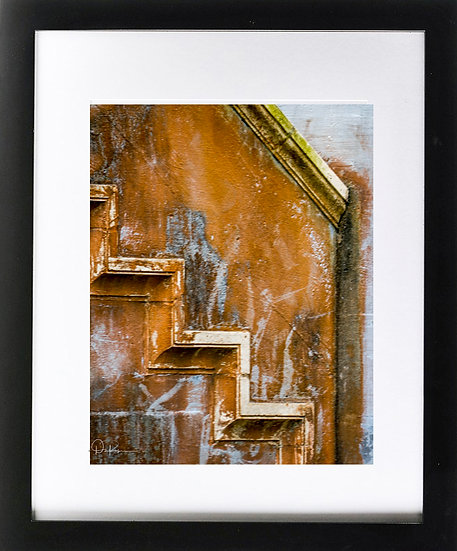 """St. Augustine I Abstract Print with 2"""" Mat and Black Frame"""