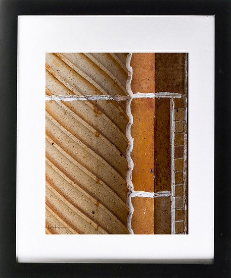 "St. Augustine II Abstract Print with 2"" Mat and Black Frame"