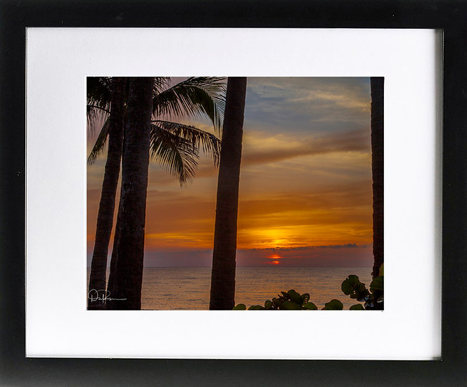 "Ft. Lauderdale I Print with 2"" Mat and Black Frame"