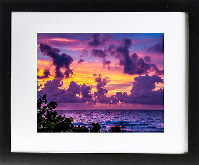 "Ft. Lauderdale II Print with 2"" Mat and Black Frame"
