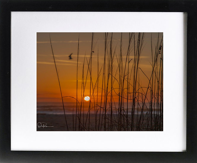 """St. Augustine Print with 2"""" Mat and Black Frame"""