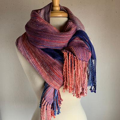Ombree shawl:Ca.sunset1:navy.jpg