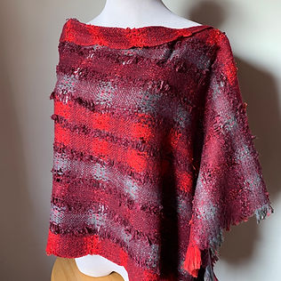 rustic poncho red, gray, burgundy .jpg