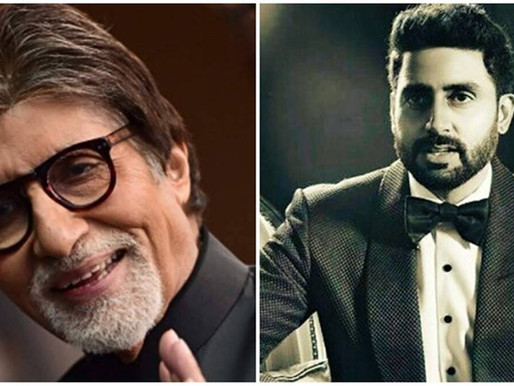 Amitabh Bachchan praises Abhishek's perseverance in the 'storm of naysayers'.