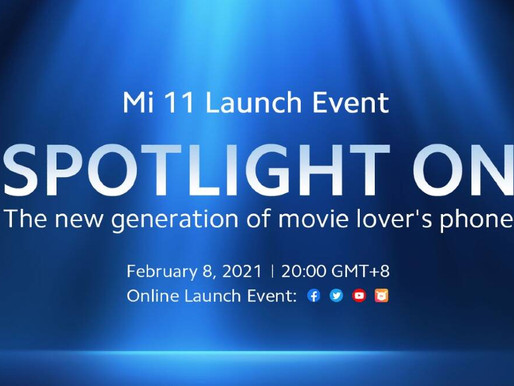 Xiaomi Mi 11 global launch officially set for February 8.