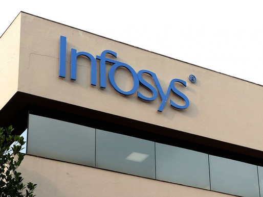 Infosys shares slip over 3.5 per cent ahead of Q4 results.
