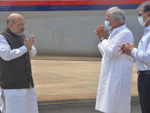 Bastar attack: Amit Shah reaches Chhattisgarh, to hold high-level meeting.