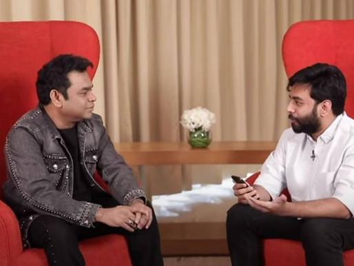 Yashraj Mukhate meets his 'God,' idol AR Rahman.