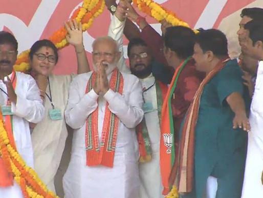 PM in Bengal: Didi 'clean bowled', she spoke of violence through 'khela hobe'.
