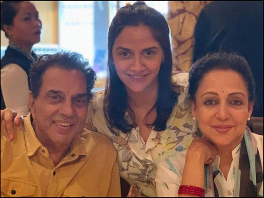 Dharmendra says daughter Ahana's newborn twins are his best birthday gift.