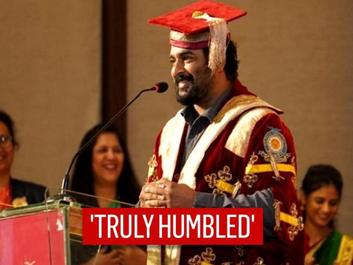 R Madhavan receives honour for contribution to arts, cinema.