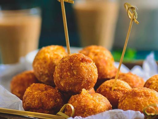 Garlic Chicken Cheese Balls Recipe.