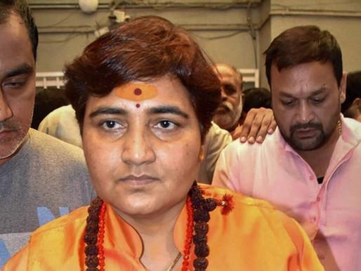 Money donated to Hindu temples going to 'vidharmis' and minorities: Sadhvi Pragya.