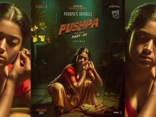 Rashmika Mandanna's first look as Srivalli from Allu Arjun's Pushpa The Rise out now.