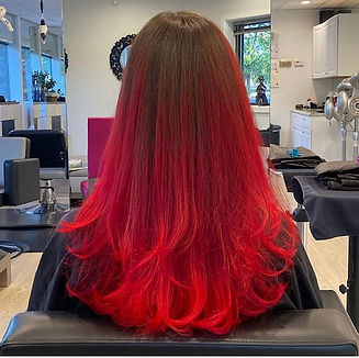 red balayage hair color best northern vi