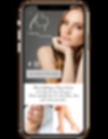image of Spa website in phone