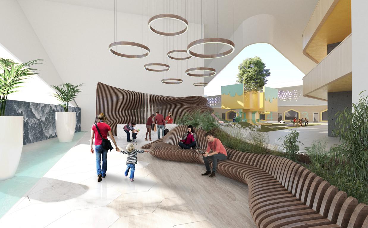 Kinder garden lobby entrance