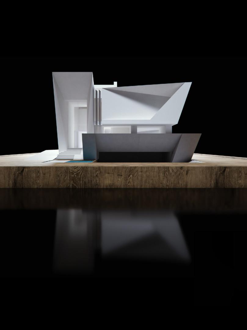 3D model front facade