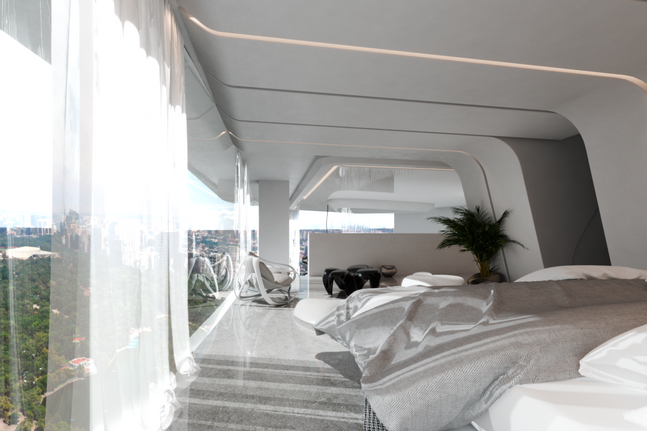 Penthouse, master bedroom