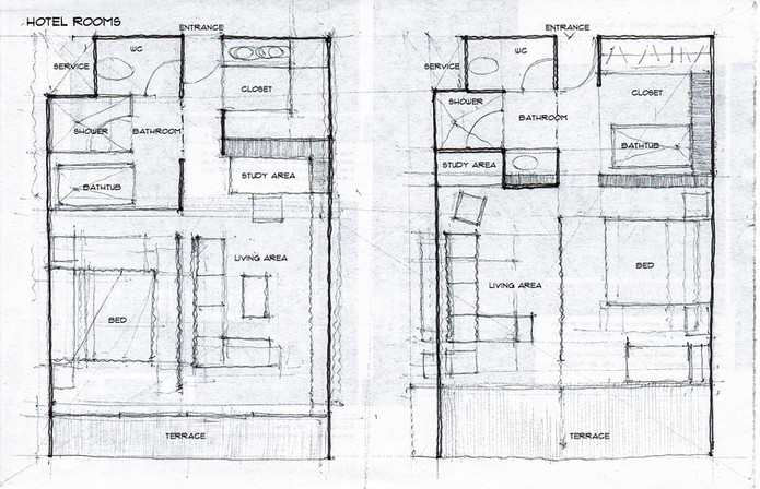 Floor plan concept sketch