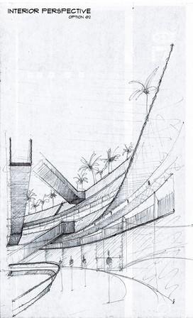 Commercial premises concept sketch