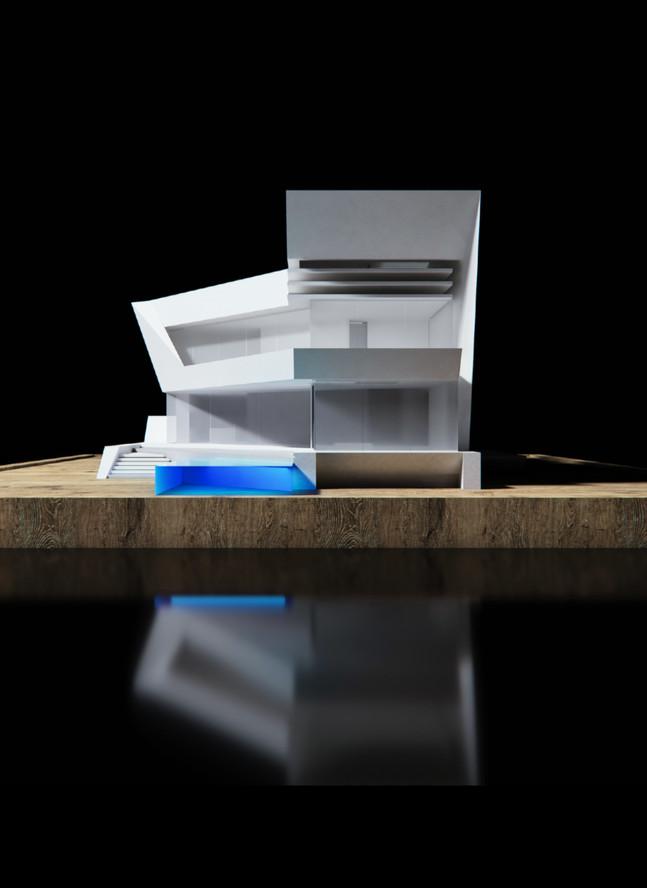 3D model rear facade