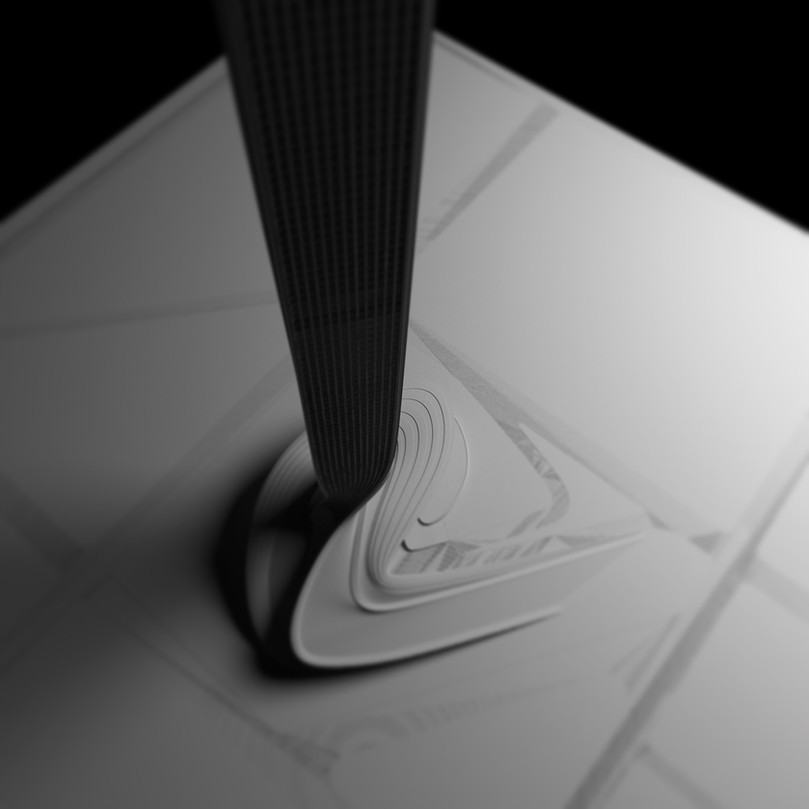 3D Model top view