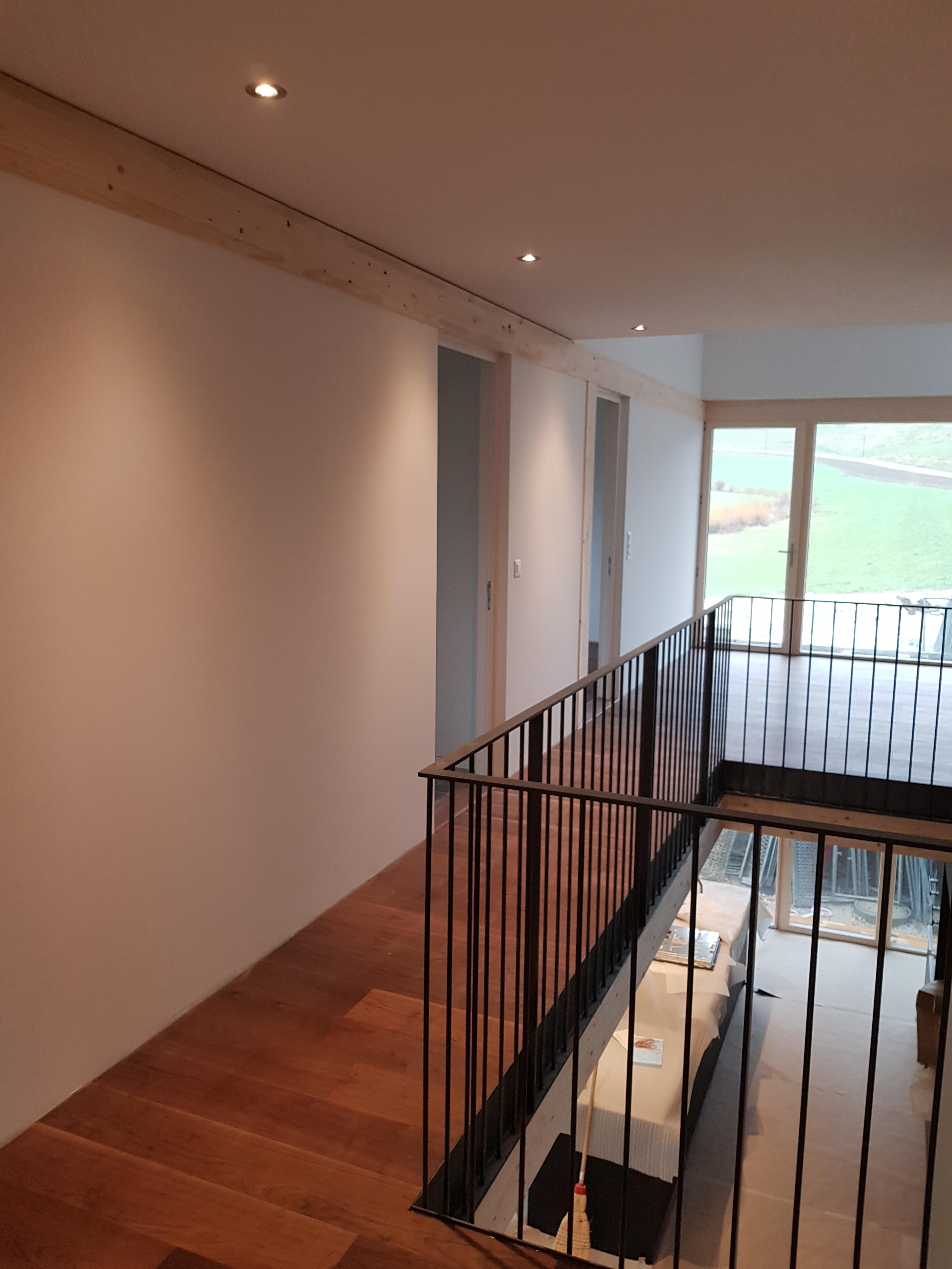 murs et plafonds lisses
