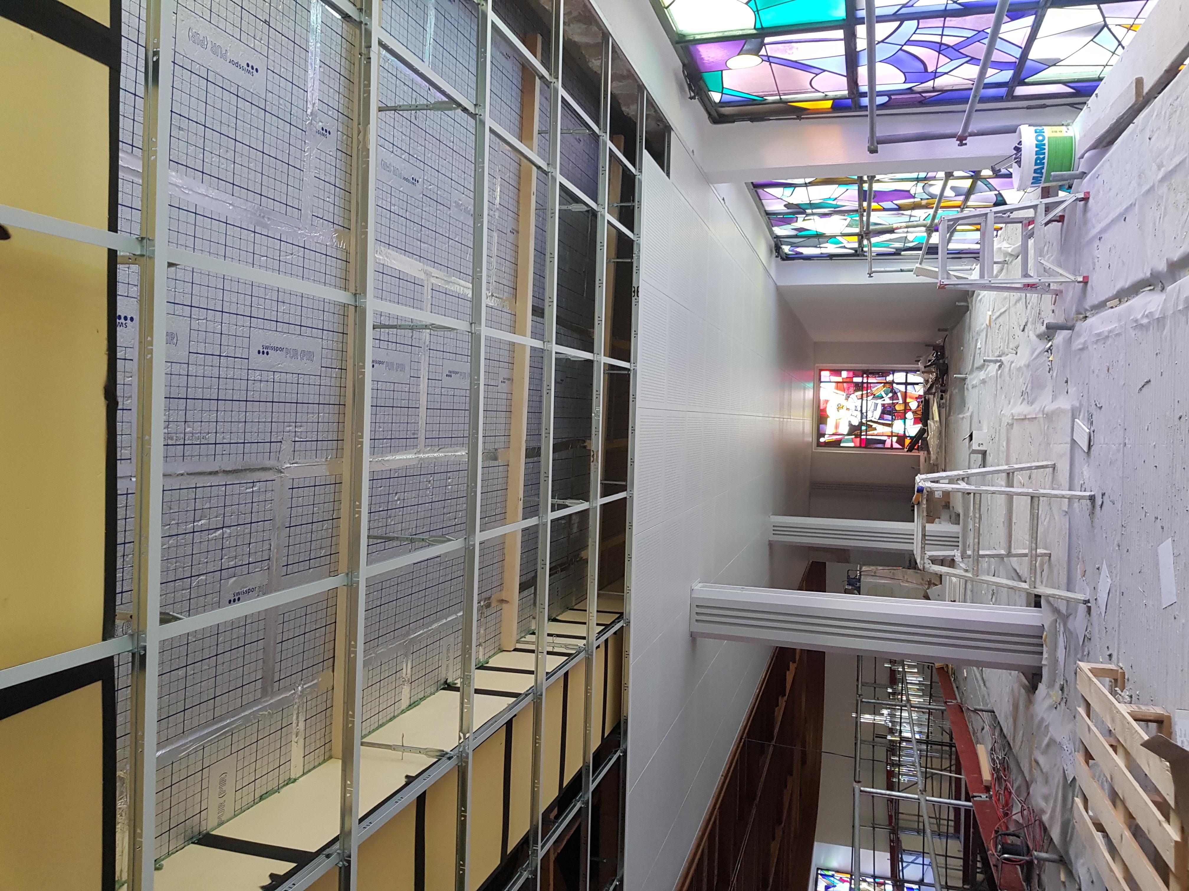plafonds en caissette avec isolatons