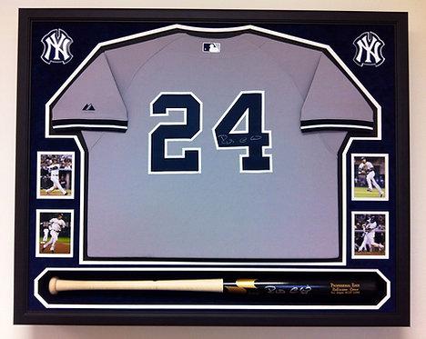 Baseball Jersey Bat,Cleats,Shadowbox Custom