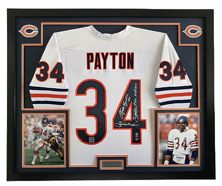 Walter Payton Autographed Chicago Bears Framed Jersey
