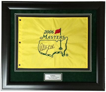 Golf pin flag frame