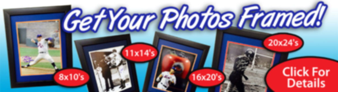 Sports Photo Framing for Autographed Signed Photos