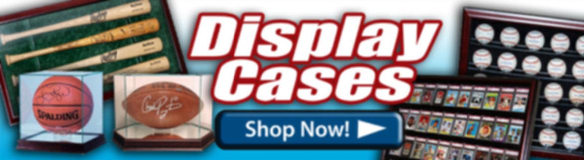 Sports Display Cases - sports card cas, baseball bat dispay cases