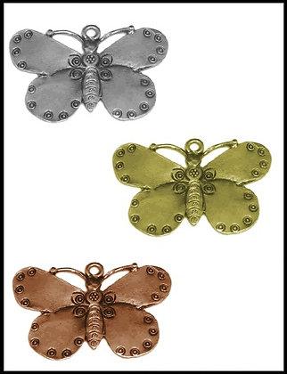 Πεταλούδα Μεταλλική 3,5cm x 4,5cm