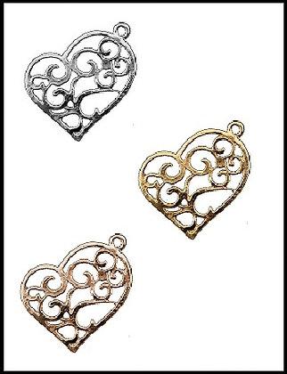 Καρδιά Μεταλλική 2cm x 2cm