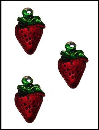 Φράουλα Μεταλλική 2cm x 1cm