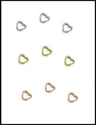 Καρδιά Μεταλλική 1cm x 1cm