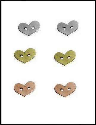 Καρδιά Μεταλλική 1,5cm x 2cm