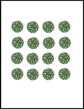 Shambala Χάνδρα Με Κρύσταλλα Πράσινο 10mm