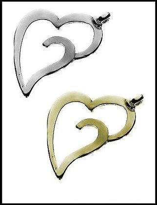 Καρδιά Μεταλλική 7cm x 6cm