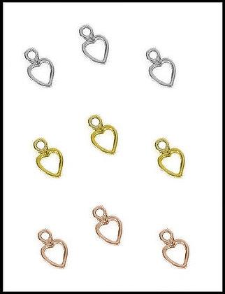 Καρδιά Μεταλλική 1.8cm x 1.2cm