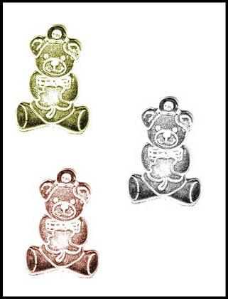 Αρκουδάκι Μεταλλικό 3,5cm x 2,5cm