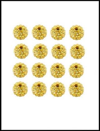 Shambala Χάνδρα Με Κρύσταλλα Κίτρινο 10mm